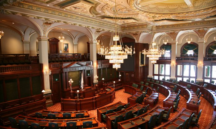 The Illinois House of Representatives, which recently passed a resolution condemning the organ harvesting in China from practitioners of the Falun Gong spiritual discipline.
