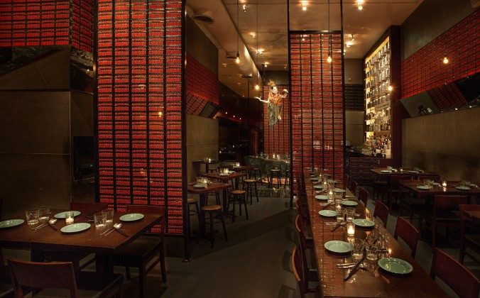 Rows of abacus panels add both a contemporary and ancient touch to Qi Esarn Thai Kitchen. (Courtesy of Qi Esarn Thai Kitchen)