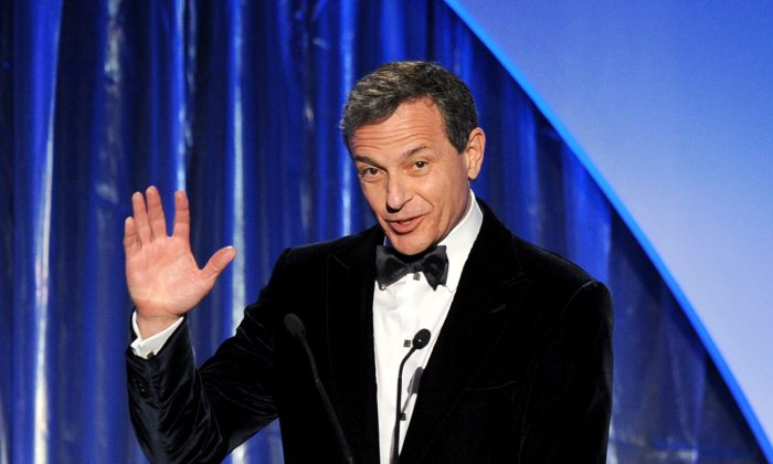 Walt Disney Company CEO and Chairman Bob Iger at the 25th annual Producers Guild of America Awards at The Beverly Hilton Hotel on Jan. 19. Disney recently signed a partnership agreement with China's state-run Shanghai Media Group. (Kevin Winter/Getty Images)