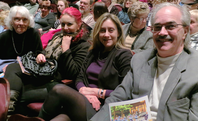George Erwin III, brought his girlfriend, daughter and mother to enjoy traditional culture through Shen Yun Performing Arts at Milwaukee Theatre. (Stacey Tang/Epoch Times)