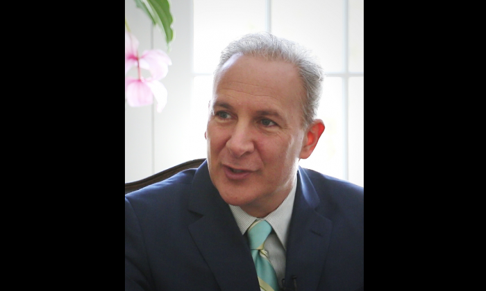 Peter Schiff, CEO of Euro Pacific Capital, talks to Epoch Times, Mar. 6, 2014. (Seth Hirsch/NTD Television)