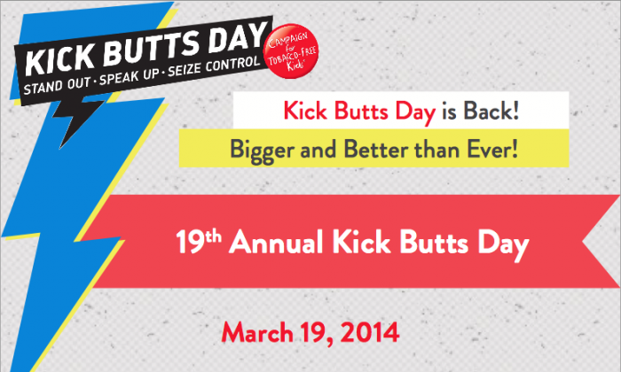 One of the official Kick Butts Day posters. (kickbuttsday.org)