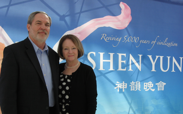 Pastor David Pierce and his wife enjoyed Shen Yun Performing Arts at the Muriel Kauffman Theatre, on March 29. (Cat Rooney/Epoch Times)