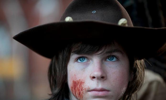 Carl Grimes (Chandler Riggs) in Episode 16 (the season finale) of season 4 of The Walking Dead. (Gene Page/AMC)