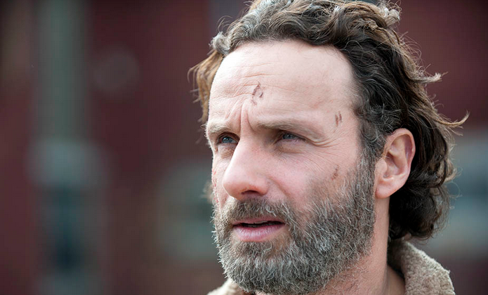 Rick Grimes (Andrew Lincoln) in Episode 16, or the season finale, of season 4 of The Walking Dead. (Gene Page/AMC)