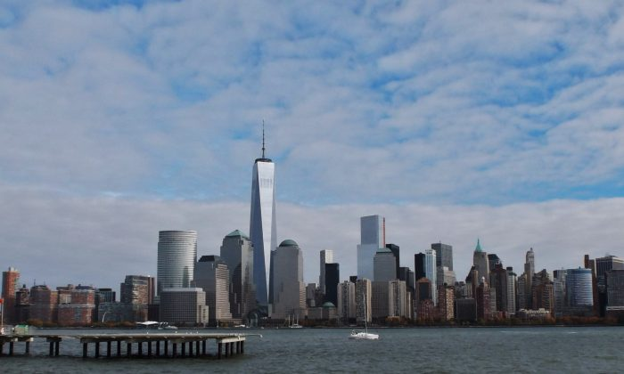World Trade Center in the New York skyline from Jersey City (Vincent J. Bove)