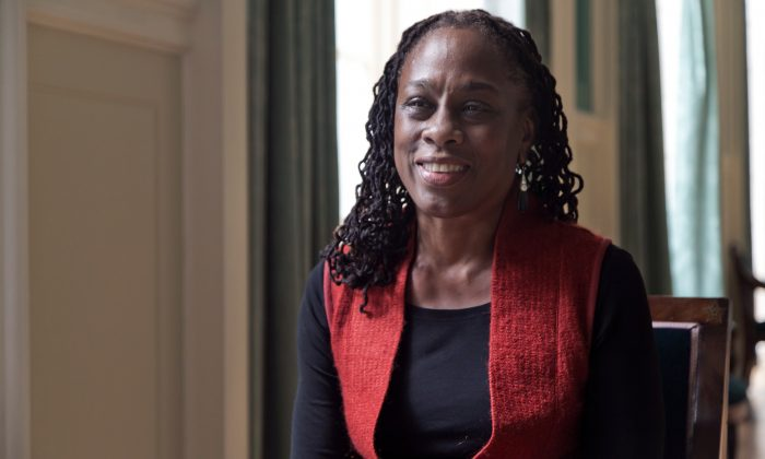 New York City first lady Chirlane McCray is interviewed at New York's City Hall, Wednesday, March 5, 2014. (AP Photo/Richard Drew)