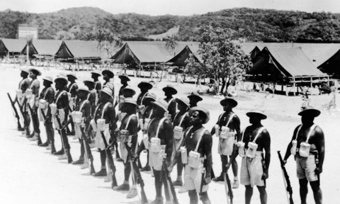Torres Strait Islander light infantry. The Torres Strait had the highest rate of volunteers during WWII. (Australian War Memorial)