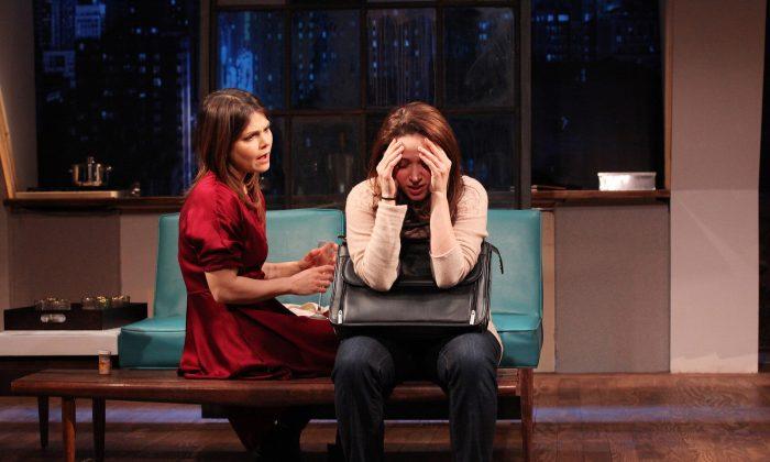 (L–R) Adele (Kathryn Erbe) and Mala (Roxanna Hope) deal with Adele's addiction. (Sandra Coudert)