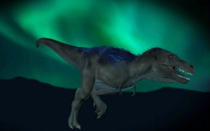 Nanuqsaurus hoglundi. (Screenshot/Video of Karen Karr's illustration)