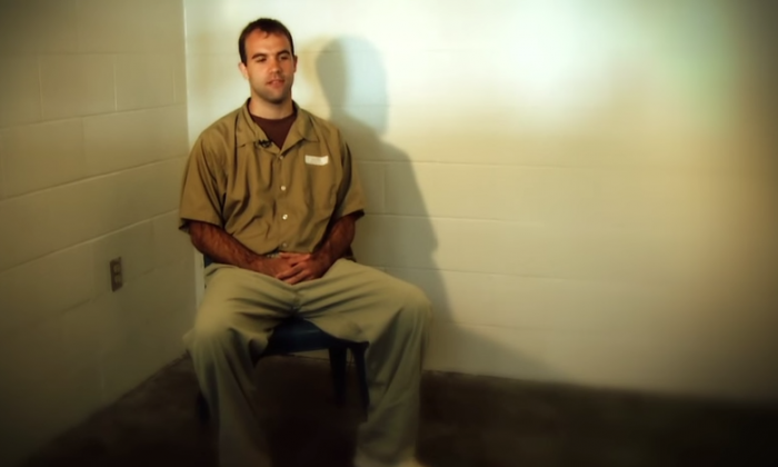 Glenn Shriver, who plead guilty in 2010 to conspiring to spy for the Chinese regime, speaks from prison in an FBI video. (Screenshot from www.fbi.gov)
