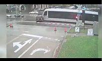 Train Smashes Red Light-Running SUV