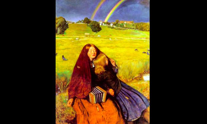 """""""The Blind Girl,"""" 1854-1856, by John Everett Millais (1829-1896). Oil on canvas. (Courtesy of Art Renewal Center)"""