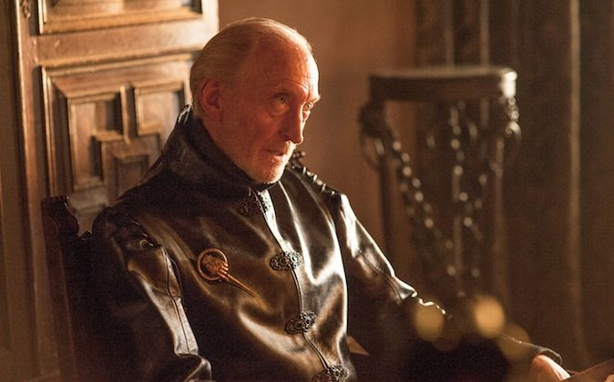 """Tywin Lannister (Charles Dance) in a scene from """"Game of Thrones."""" The fourth season premieres Sunday at 9p.m. EST on HBO. (AP Photo/HBO, Helen Sloan)"""