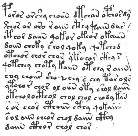 Voynich Manuscript Excerpt