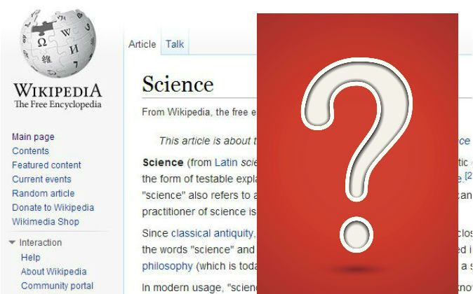 Wikipedia editors have much power to shape the understanding of the general public. Do you trust them? (Screenshot/Wikipedia.com; Question mark via Thinkstock)