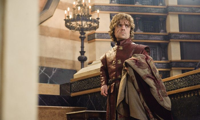 "This publicity image released by HBO shows Peter Dinklage in a scene from ""Game of Thrones.""  Dinklage was nominated for an Emmy Award for best supporting actor in a drama series on, Thursday July 18, 2013. The Academy of Television Arts & Sciences' Emmy ceremony will be hosted by Neil Patrick Harris. It will air Sept. 22 on CBS. (AP Photo/HBO, Helen Sloan)"