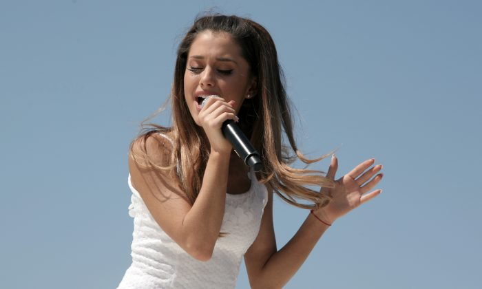 Recording artist Ariana Grande attends the Born Free Mother's Day Carnival on Sunday, May 11, 2014, in New York. (Photo by Andy Kropa/Invision/AP)