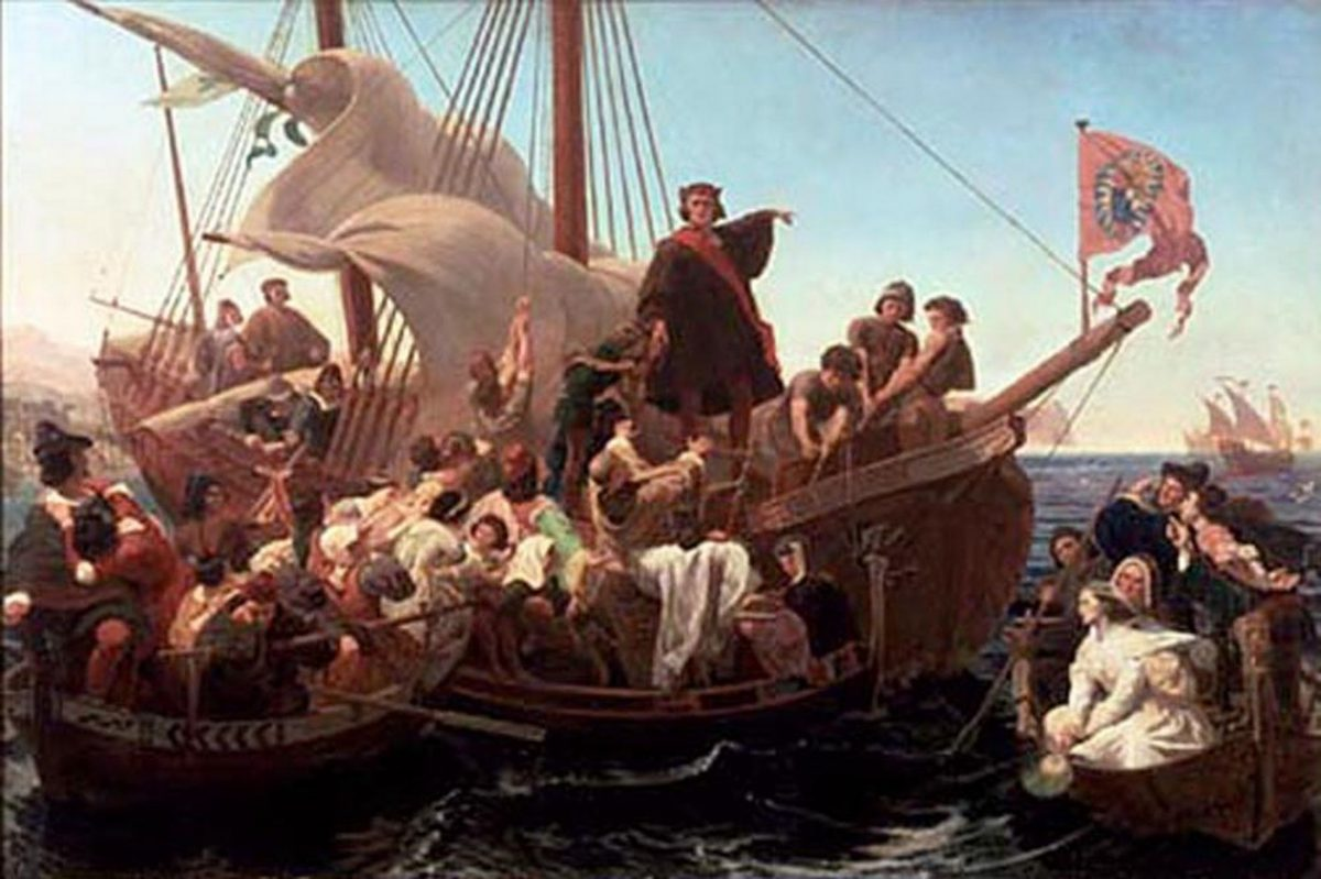 christopher columbus and his discoveries 1494 christopher columbus announces his discovery master mariner and navigator, the first historically important european discoverer of the new world his four voyages (1492-93, 1493-96, 1498-1500, and 1502-04) opened the way for european exploration, exploitation, and colonization.