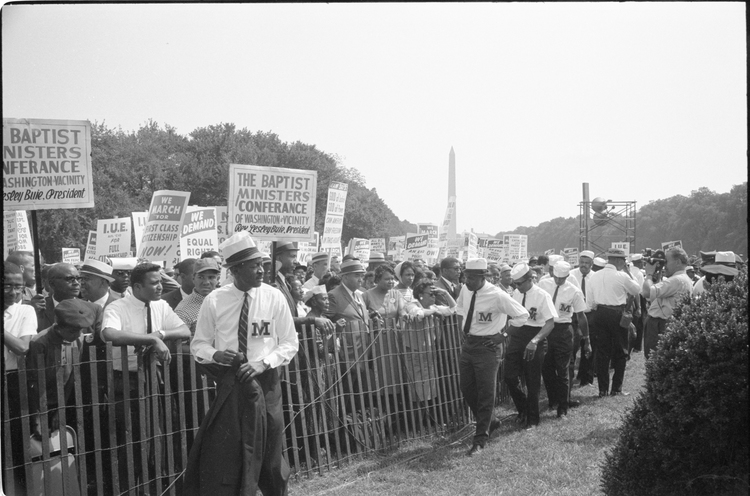 Civil Rights March on Washington, 1963.