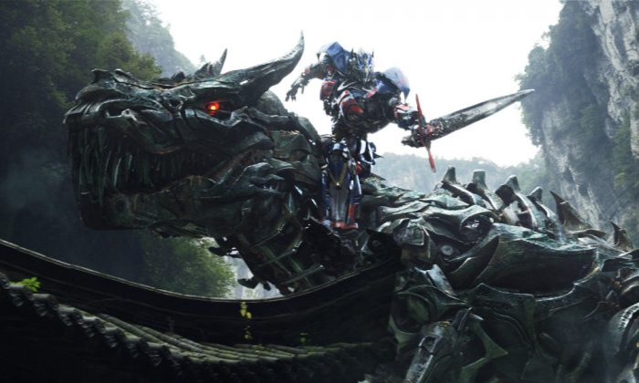 "Grimlock and Optimus Prime in ""Transformers: Age of Extinction."" (Paramount Pictures)"