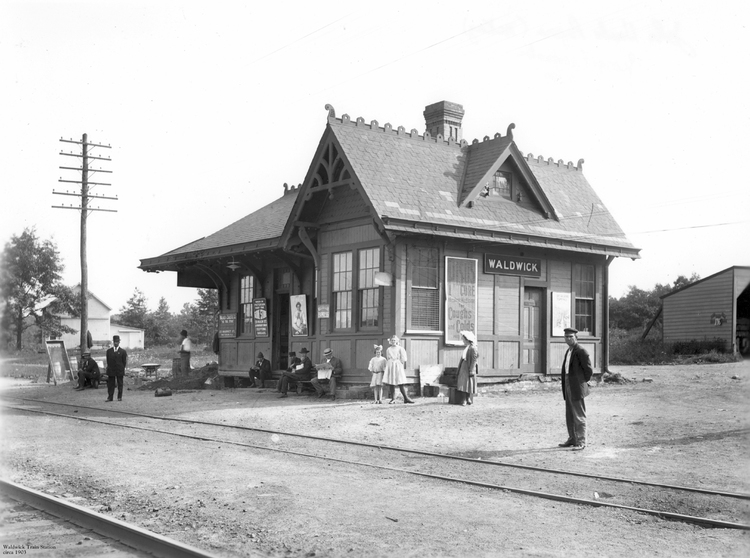 Waldwick Train Station, ca. 1903, in Waldwick, N.J.