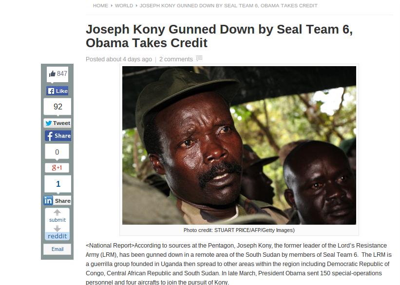 joseph kony dead killed by seal team 6 in 2014 nope