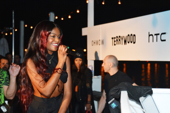 "Azealia Banks attends the OHWOW & HTC celebration of the release of ""TERRYWOOD"" with Terry Richardson at The Standard Hotel & Spa on December 7, 2012 in Miami Beach, Florida.  (Photo by Frazer Harrison/Getty Images for HTC)"