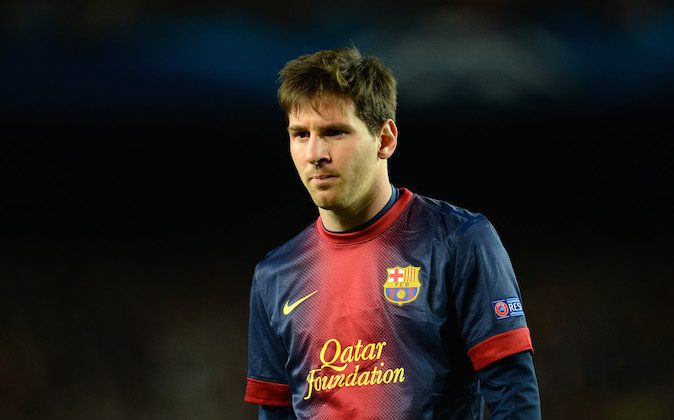 Lionel Messi of Barcelona looks on during the UEFA Champions League quarter-final second leg match between Barcelona and Paris St Germain at Nou Camp on April 10, 2013 in Barcelona, Spain. (Shaun Botterill/Getty Images)