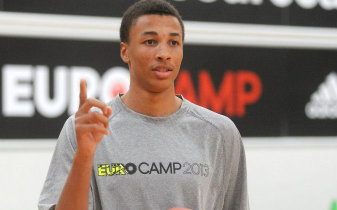 Dante Exum practices during adidas Eurocamp day three at La Ghirada sports center on June 10, 2013 in Treviso, Italy. (Photo by Roberto Serra/Iguana Press/Getty Images)