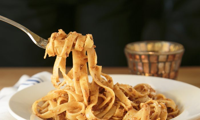 The Tagliatelle all Bolognese is soul-satisfying. The meat sauce is simmered for eight hours. (Samira Bouaou/Epoch Times)