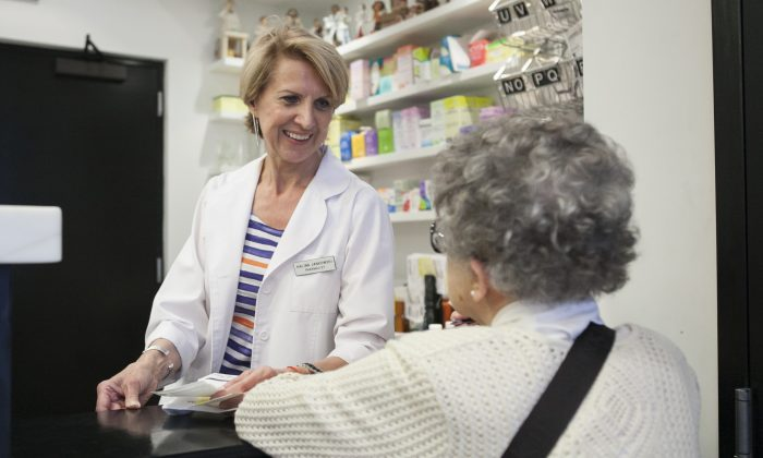 Pharmacist Halina Jankowski at the Northside Pharmacy in Brooklyn, New York, on June 18, 2014. (Samira Bouaou/Epoch Times)