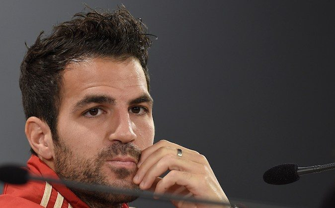 Spain's midfielder Cesc Fabregas attends a press conference on June 15, 2014, at CT do Caju in Curitiba during the 2014 FIFA Football World Cup in Brazil. (LLUIS GENE/AFP/Getty Images)