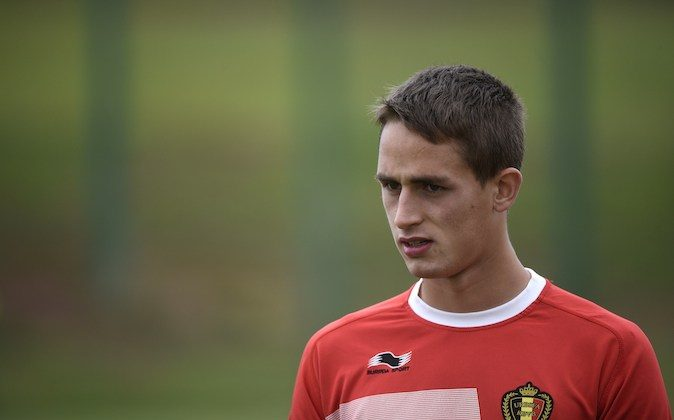 Belgium's midfielder Adnan Januzaj takes part in a training session during the 2014 FIFA World Cup football tournament in Mogi das Cruzes on June 19, 2014. (MARTIN BUREAU/AFP/Getty Images)