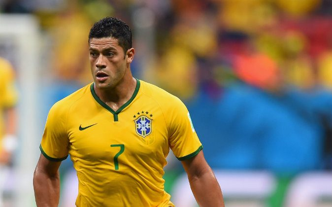 Hulk of Brazil controls the ball during the 2014 FIFA World Cup Brazil Group A match between Cameroon and Brazil at Estadio Nacional on June 23, 2014 in Brasilia, Brazil. (Photo by Stu Forster/Getty Images)