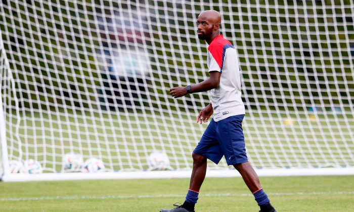 DaMarcus Beasley of the United States works out during training at Sao Paulo FC on June 28, 2014 in Sao Paulo, Brazil. (Kevin C. Cox/Getty Images)