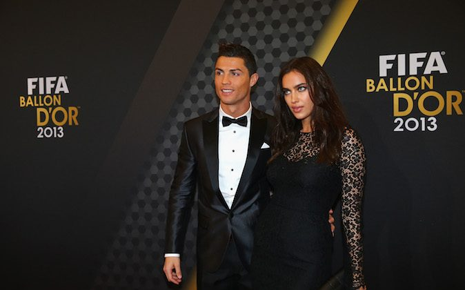 FIFA Ballon d'Or nominee Cristiano Ronaldo of Portugal and Real Madrid and Irina Shayk arrive during the FIFA Ballon d'Or Gala 2013 at the Kongresshalle on January 13, 2014 in Zurich, Switzerland. (Martin Rose/Bongarts/Getty Images)