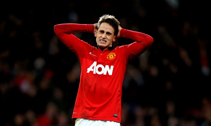 Adnan Januzaj of Manchester United reacts after his penalty is saved during the Capital One Cup semi final, second leg match between Manchester United and Sunderland at Old Trafford on January 22, 2014 in Manchester, England. (Photo by Laurence Griffiths/Getty Images)