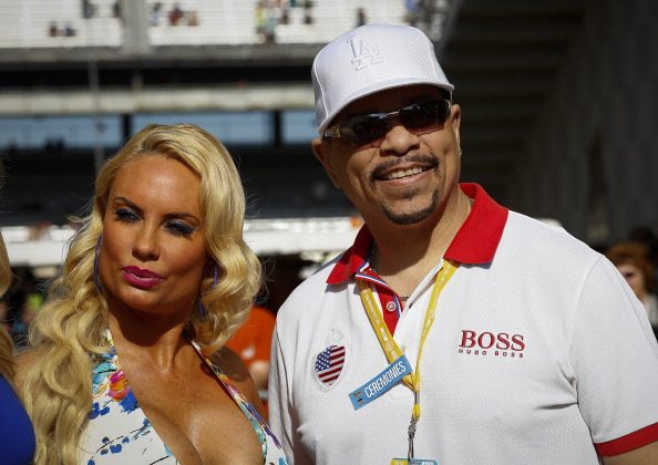 Coco and Ice-T attends the 2014 Indy 500 at Indianapolis Motorspeedway on May 25, 2014 in Indianapolis, Indiana. (Photo by Michael Hickey/Getty Images)