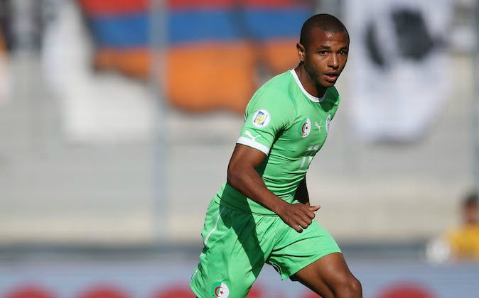 Yacine Brahimi of Algeria controls the ball during the international friendly match between Algeria and Armenia at Estadio Tourbillon on May 31, 2014 in Sion, Switzerland. (Photo by Philipp Schmidli/Getty Images)
