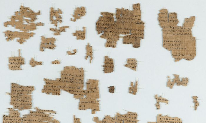 Fragments of poems by Sappho (ca. 620–ca. 550 BC). Graeco-Roman Egypt, second century A.D. (Courtesy of the Morgan Library and Museum)