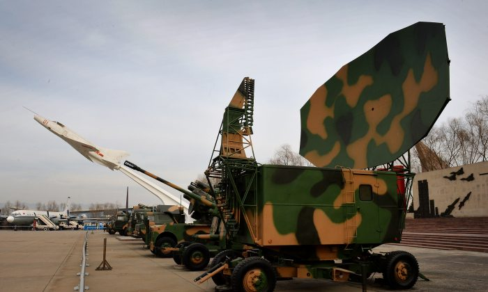 Chinese military radar equipment on display at a Beijing museum in December 2013. China is developing technology intended to disable or destroy U.S. military communication systems. (Mark Ralston/AFP/Getty Images)