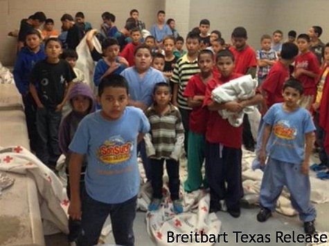 Leaked internal federal government photos show foreign children being housed in crowded conditions. (Breitbart Texas)