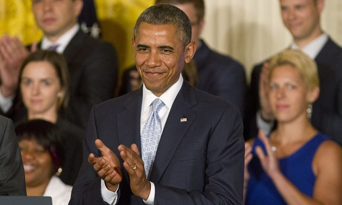 President Barack Obama in the East Room of the White House in Washington, Monday. (AP Photo/Jacquelyn Martin)