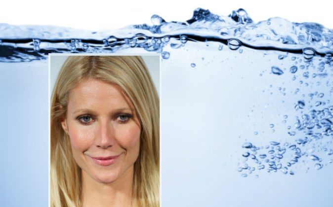 A file photo of Gwyneth Paltrow (Carlos Alvarez/Getty Images) Background image of water via Thinkstock