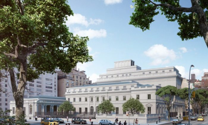 Artist's rendering of The Frick Collection plan from Fifth Avenue. (Courtesy of Neoscape  Inc., 2014)