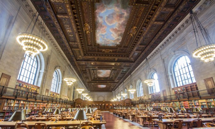 The Rose Main Reading Room on the third floor of the Stephen A. Schwarzman Building. (Courtesy of The New York Public Library)