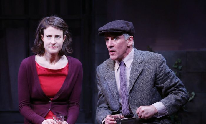Desk Award-nominated actress Xanthe Elbrick and Obie Award-winning actor Patrick Fitzgerald play a couple who have found each other but yet don't fit in one another's world. (Carol Rosegg)