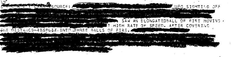 NSA UFO Report