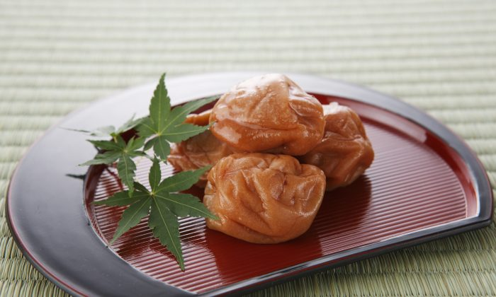 In Japan, the equivalent of the apple a day that keeps the doctor away is the pickled umeboshi.